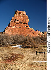 A large red rock formation - This large red rock formation...