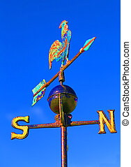 Weather vane for measuring wind direction - weathercock for...