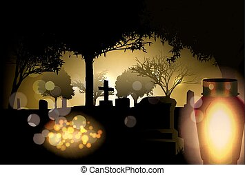 All Saints Day - Vector Conceptual All Saints Day...