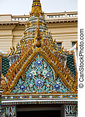 thailand asia   in  bangkok rain  temple      sky      and  colors religion      mosaic