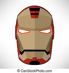 Superhero Mask Isolated on White Background. Flat Design.