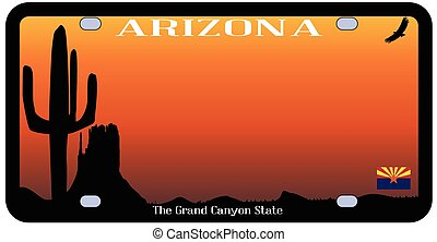 Arizona State License Plate - Arizona state license plate...