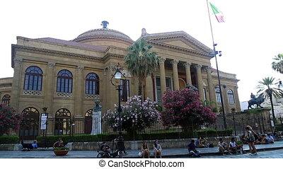 Massimo theatre Palermo Sicily