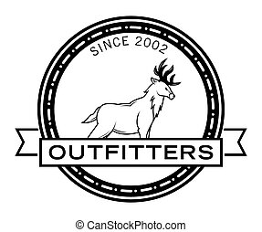 Outfitters hunter badge