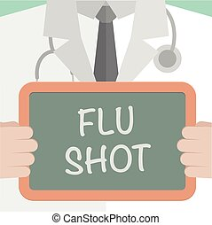 Medical Board Flu Shot - minimalistic illustration of a...