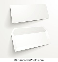 Mockup Envelopes - detailed illustration of a blank envelope...