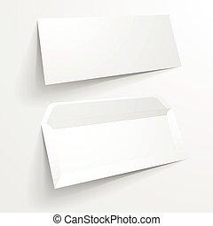 Mockup Envelopes - detailed illustration of a blank envelope...