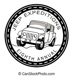 Off road adventure tours badge label