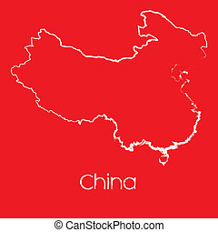 Map of the country of China - A Map of the country of China