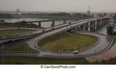 highway interchange of a city - view of highway interchange...