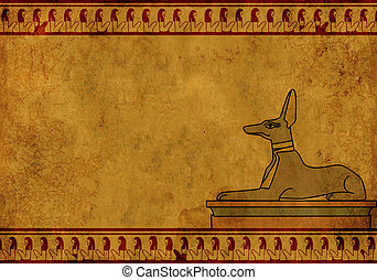 Anubis - Background with Egyptian god Anubis image Object...