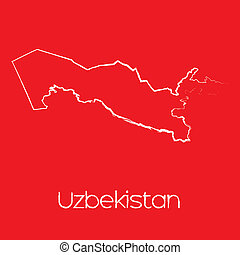 Map of the country of Uzbekistan - A Map of the country of...