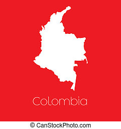 Map of the country of Colombia - A Map of the country of...