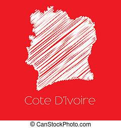Map of the country of Cote Divoire - A Map of the country of...