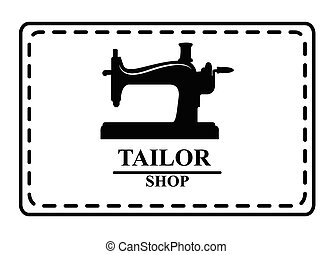 Tailor shop : Sewing label badge