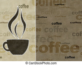 Coffee - leather grunge background of brown color