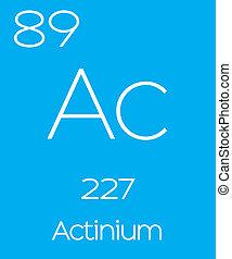 Informative Illustration of the Periodic Element - Actinium...