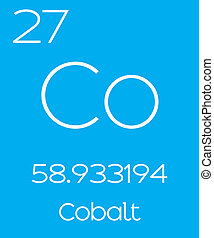 Informative Illustration of the Periodic Element - Cobalt -...