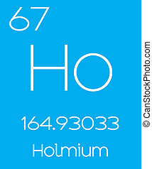 Informative Illustration of the Periodic Element - Holmium -...