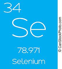 Informative Illustration of the Periodic Element - Selenium...