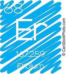 Informative Illustration of the Periodic Element - Erbium -...