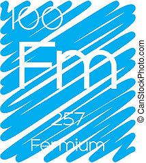 Informative Illustration of the Periodic Element - Fermium -...