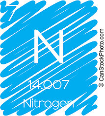 Informative Illustration of the Periodic Element - Nitrogen...