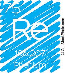 Informative Illustration of the Periodic Element - Rhenium -...