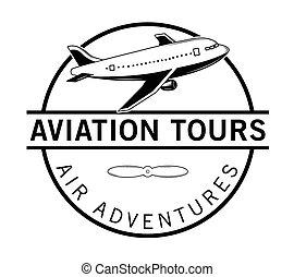 Air adventures label badge