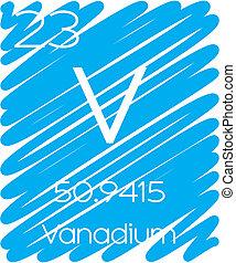 Informative Illustration of the Periodic Element - Vanadium...