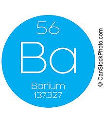 Informative Illustration of the Periodic Element - Barium -...