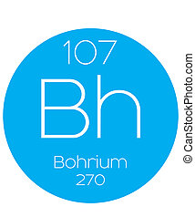 Informative Illustration of the Periodic Element - Bohrium -...