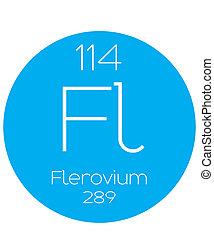 Informative Illustration of the Periodic Element - Flerovium...