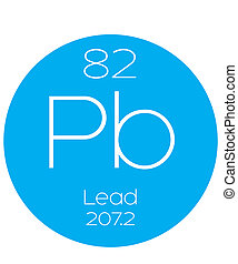 Informative Illustration of the Periodic Element - Lead - An...