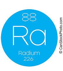 Informative Illustration of the Periodic Element - Radium -...