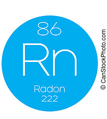 Informative Illustration of the Periodic Element - Radon -...