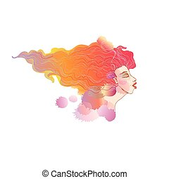 Red Haired Woman - ilustration - Red Haired Woman -...