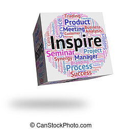 Inspire Word Shows Spur On And Encourages - Inspire Word...