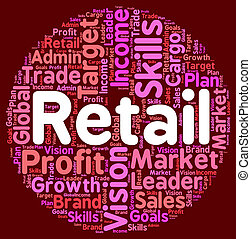 Retail Word Means Sales Sell And Market - Retail Word...