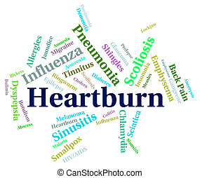 Heartburn Word Indicates Poor Health And Affliction -...