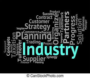 Industry Word Means Industrialized Wordclouds And Industrial...