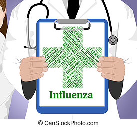 Influenza Word Means Ill Health And Affliction - Influenza...