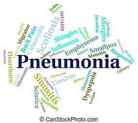 Pneumonia Word Means Ill Health And Affliction - Pneumonia...