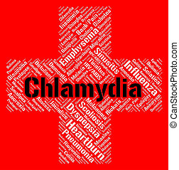 Chlamydia Word Represents Sexually Transmitted Disease And...