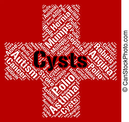 Cysts Word Indicates Ill Health And Affliction - Cysts Word...