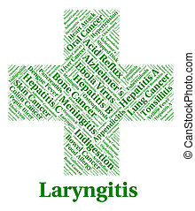 Laryngitis Illness Indicates Poor Health And Affliction -...
