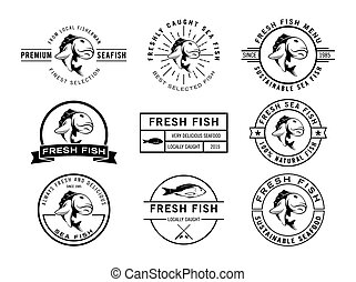 fish badge collection