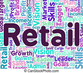Retail Word Means Selling Commerce And Sell - Retail Word...
