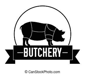 Butchery cow badge