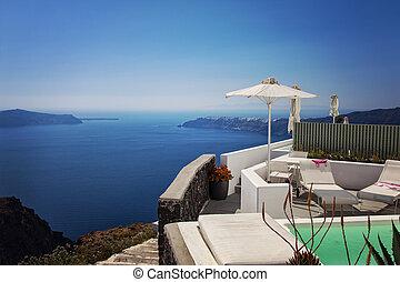 Luxury ocean view balcony